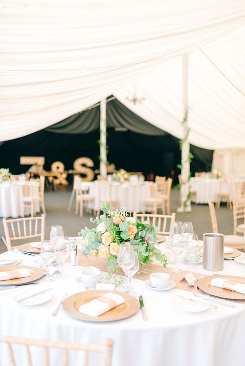 Country Marquee Wedding Reception