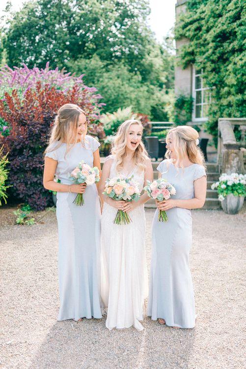 Bridesmaid in Pale Blue Coast Dresses
