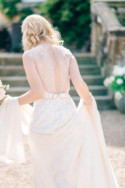 Bride in Jenny Packham Embellished Bridal Gown