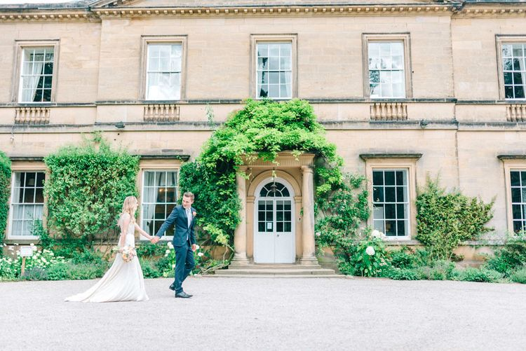 Bride & Groom Country House Portrait