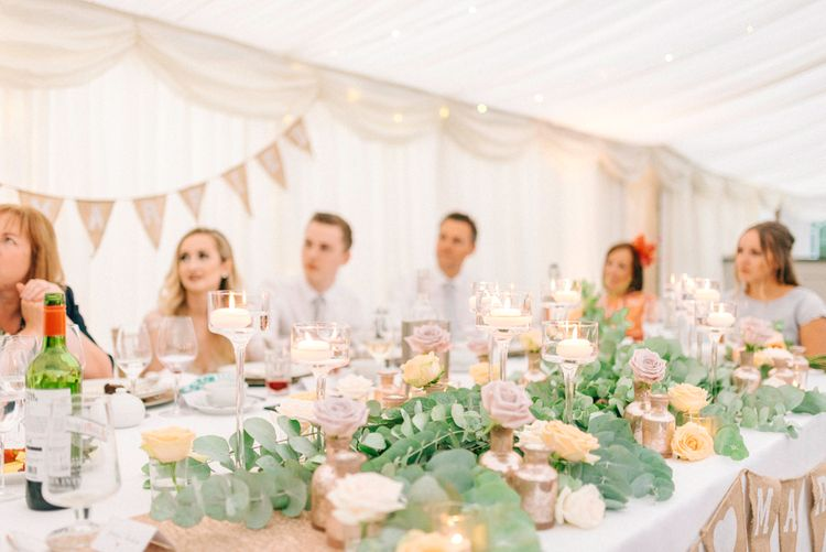 Top Table Floral Garland