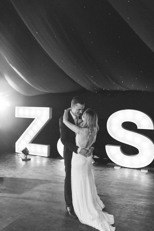 Bride & Groom First Dance   Giant Light Up Letters from Coco Luminaire