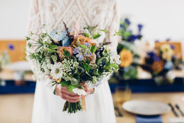 Blue & Purple Wedding Flowers