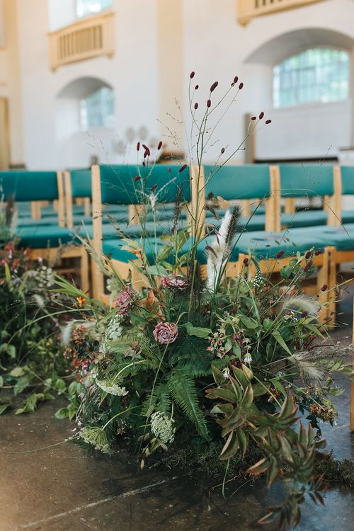 Floral Aisle For Church Wedding