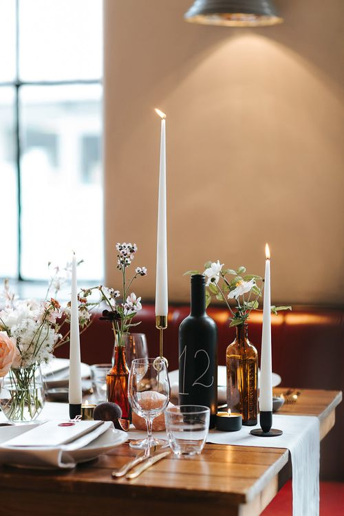 Relaxed London Wedding With Gold Accents Rich Autumnal Tones & Tapered Candles