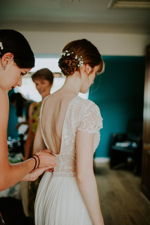 Bride in Inbal Raviv Gown | Luxe Wedding at St Stephen's Trust, Deconsecrated Church in Hampstead, London | Irene yap Photography