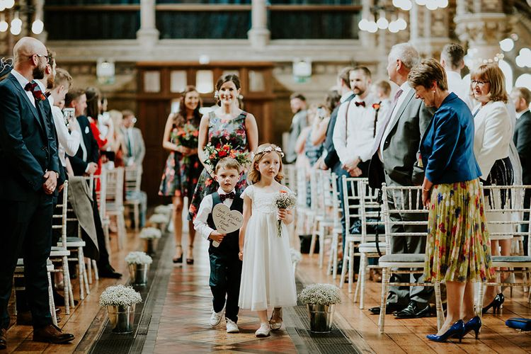 Page Boy & Flower Girl | Luxe Wedding at St Stephen's Trust, Deconsecrated Church in Hampstead, London | Irene yap Photography