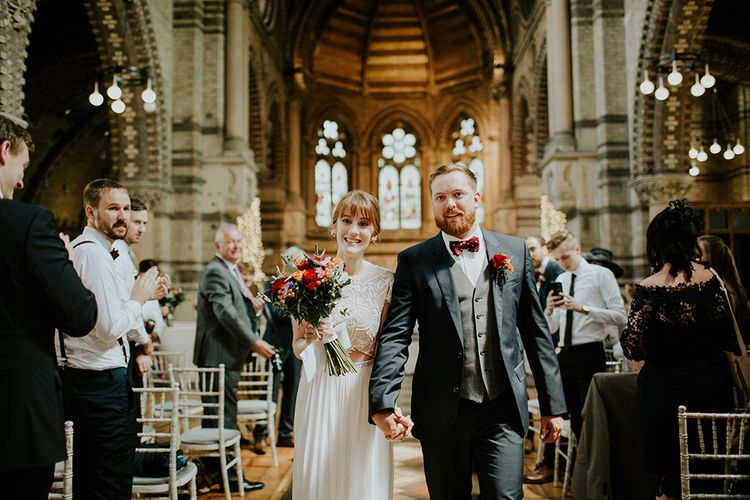 Ceremony | Bride in Inbal Raviv Gown | Luxe Wedding at St Stephen's Trust, Deconsecrated Church in Hampstead, London | Irene yap Photography