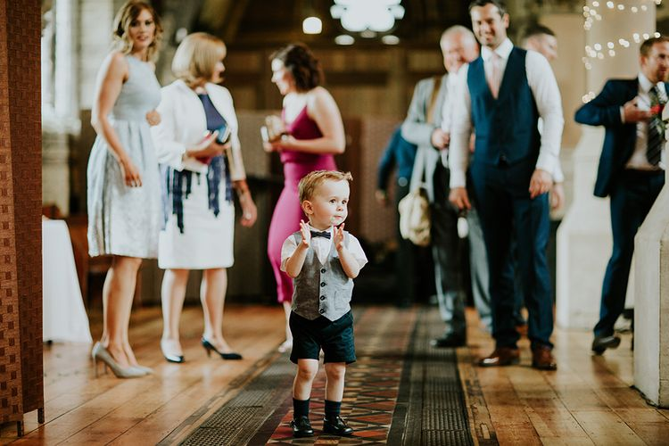 Page Boy in Marks and Spencer | Luxe Wedding at St Stephen's Trust, Deconsecrated Church in Hampstead, London | Irene yap Photography