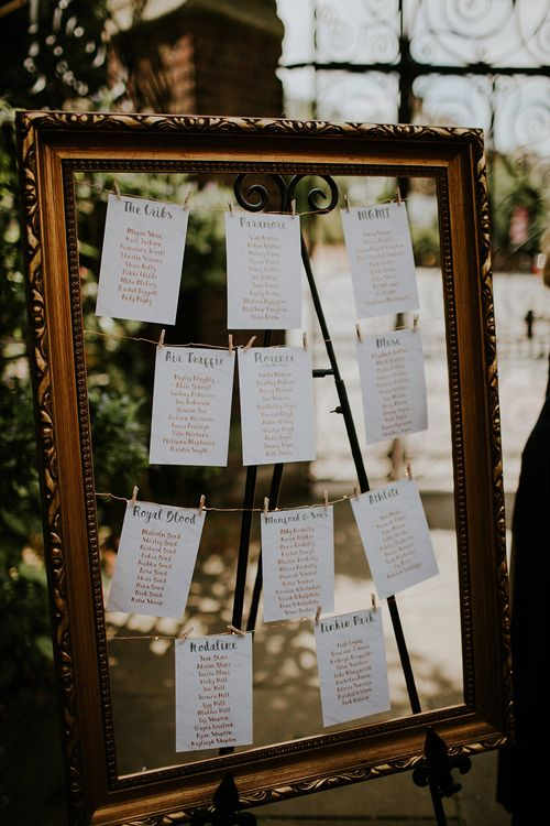 Frame Table Plan | Luxe Wedding at St Stephen's Trust, Deconsecrated Church in Hampstead, London | Irene yap Photography