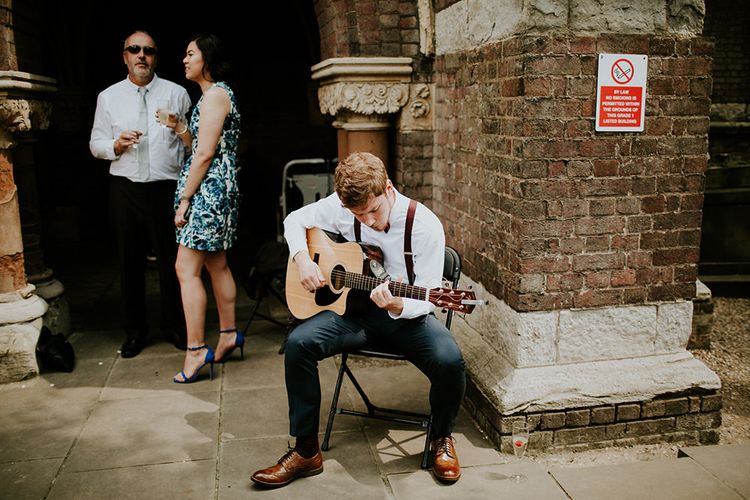 Guitarist | Luxe Wedding at St Stephen's Trust, Deconsecrated Church in Hampstead, London | Irene yap Photography