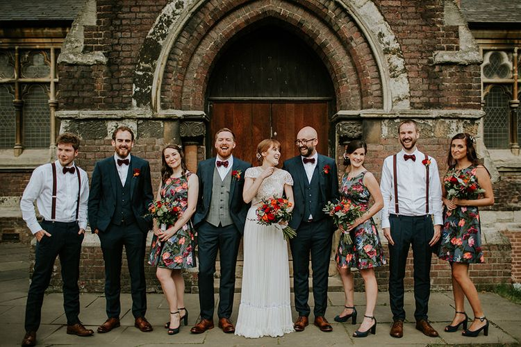 Wedding Party| Luxe Wedding at St Stephen's Trust, Deconsecrated Church in Hampstead, London | Irene yap Photography
