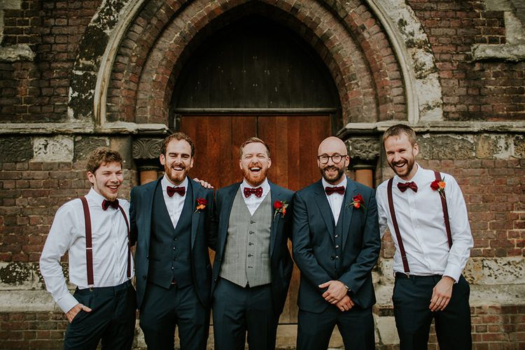Groomsmen | Luxe Wedding at St Stephen's Trust, Deconsecrated Church in Hampstead, London | Irene yap Photography