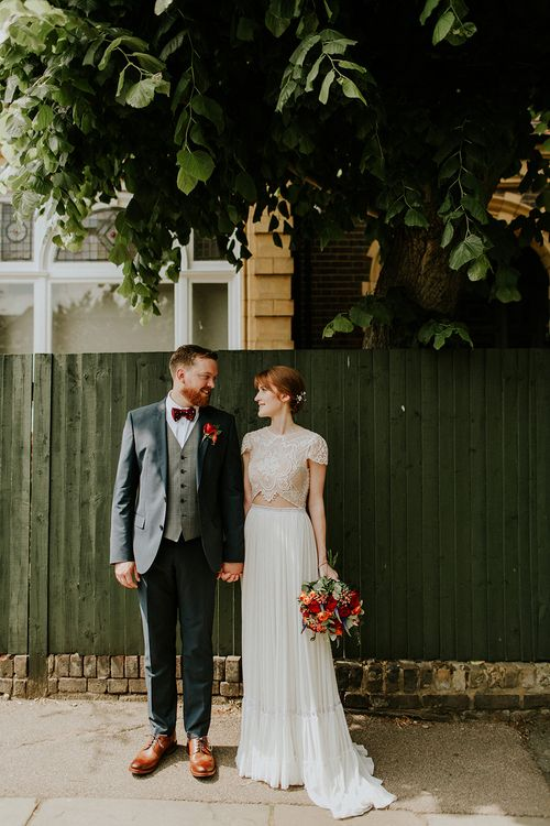 Bride in Inbal Raviv Gown | Groom in Hugo Boss Suit | Luxe Wedding at St Stephen's Trust, Deconsecrated Church in Hampstead, London | Irene yap Photography