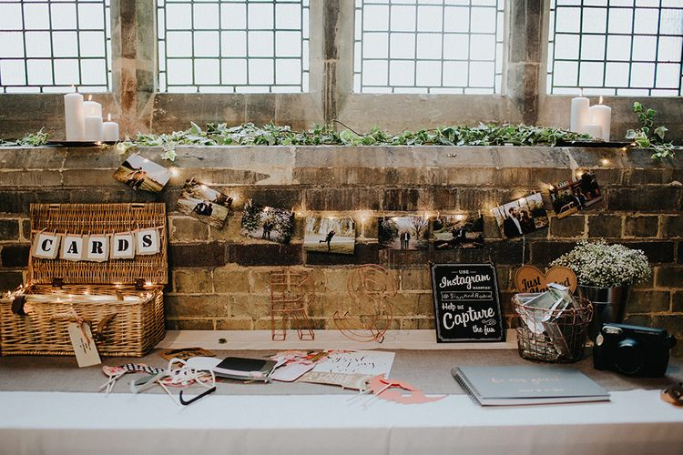 Wedding Card Table | Guest Book | Wedding Decor | Luxe Wedding at St Stephen's Trust, Deconsecrated Church in Hampstead, London | Irene yap Photography