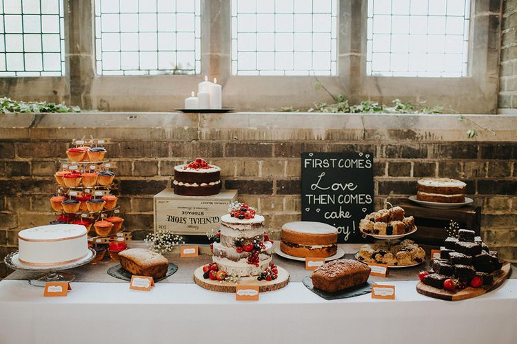 DessertTable | Wedding Cake | Luxe Wedding at St Stephen's Trust, Deconsecrated Church in Hampstead, London | Irene yap Photography