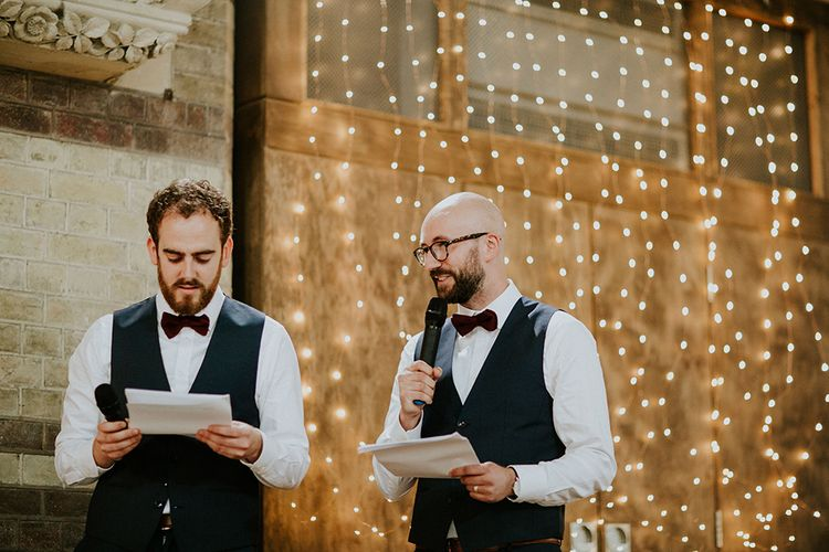 Speeches | Luxe Wedding at St Stephen's Trust, Deconsecrated Church in Hampstead, London | Irene yap Photography