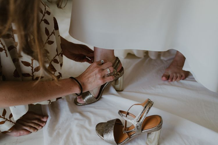 What For Wedding Shoes | Outdoor Countryside Wedding in Greece Planned by Phaedra Liakou | Days Made of Love Photography