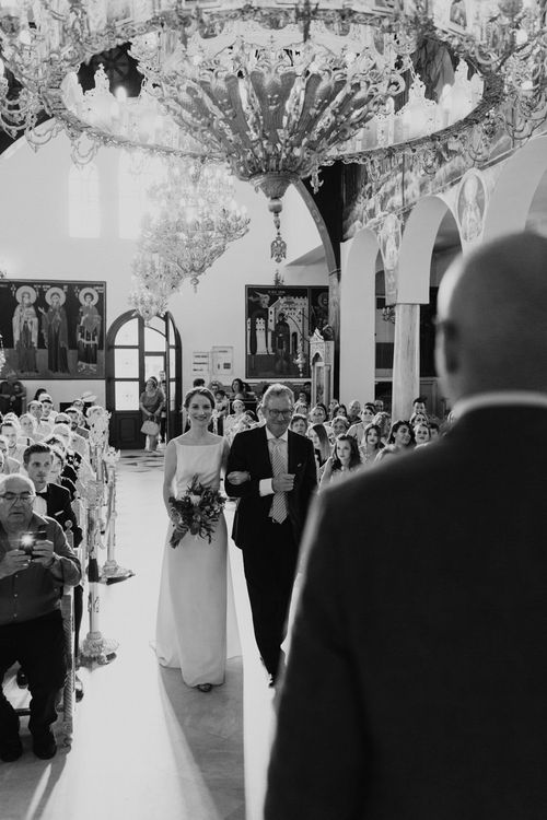 Wedding Ceremony | Bridal Entrance in Yvonne Läufer Bridal Gown | Outdoor Countryside Wedding in Greece Planned by Phaedra Liakou | Days Made of Love Photography
