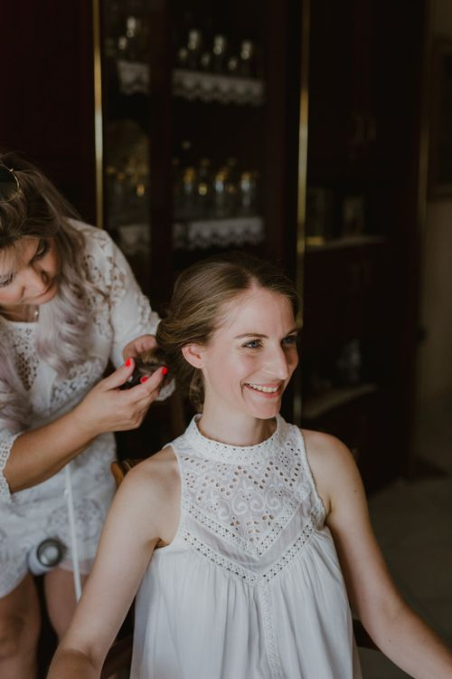 Wedding Morning Preparations | Outdoor Countryside Wedding in Greece Planned by Phaedra Liakou | Days Made of Love Photography
