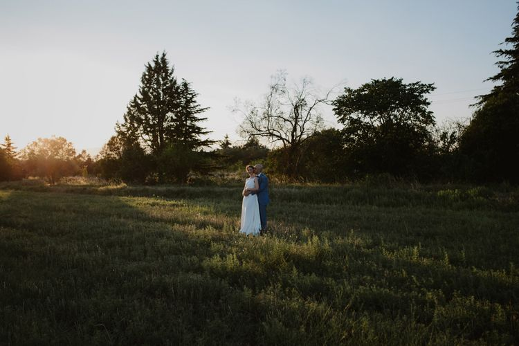 Golden Hour Portrait | Bride in Yvonne Läufer Bridal Gown | Outdoor Countryside Wedding in Greece Planned by Phaedra Liakou | Days Made of Love Photography