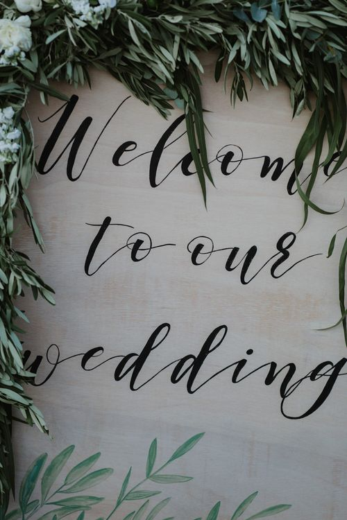 Wedding Sign | Outdoor Countryside Wedding in Greece Planned by Phaedra Liakou | Days Made of Love Photography