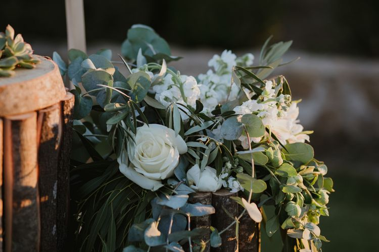 White & Greenery Wedding Flowers | Outdoor Countryside Wedding in Greece Planned by Phaedra Liakou | Days Made of Love Photography
