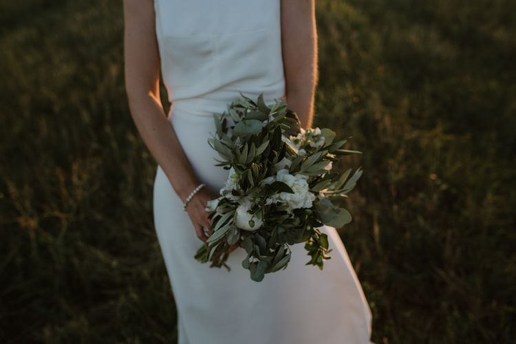 White & Greenery Wedding Bouquet | Outdoor Countryside Wedding in Greece Planned by Phaedra Liakou | Days Made of Love Photography