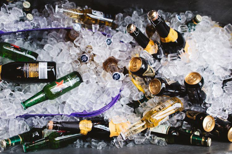 Beers In Ice Bucket Dry Hire Wedding Venue