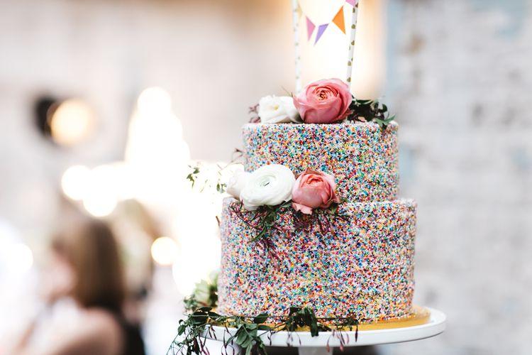 Confetti Wedding Cake With Hundreds & Thousands