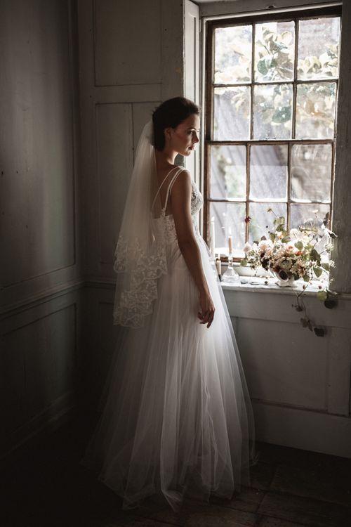 Veil by Daisy Sheldon // Dress by Katya Katya Shehurina // Styling by Beatnik Bride // Images by Benjamin Wheeler International Wedding Photographer
