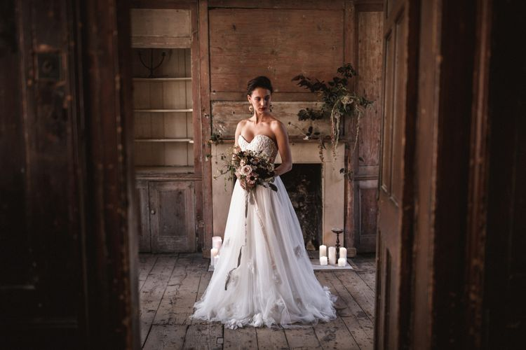 Corset & Skirt by Halfpenny London // Earrings by Pebble London // Styling by Beatnik Bride // Images by Benjamin Wheeler International Wedding Photographer