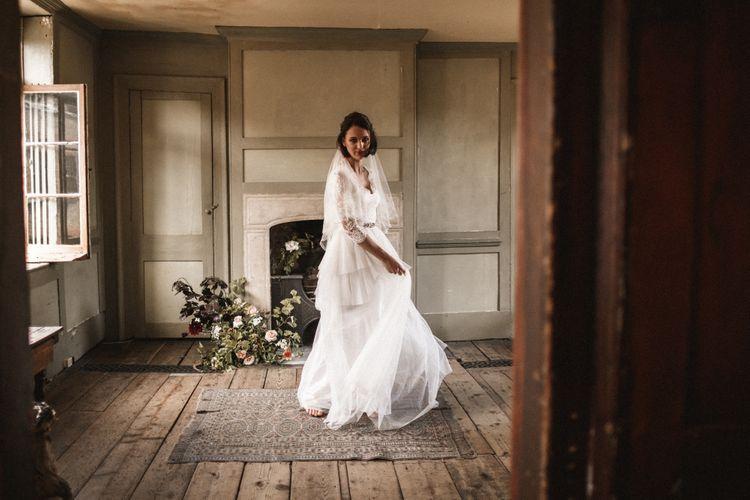 Dress and belt by Katya Katya Shehurina // Veil by Daisy Sheldon
