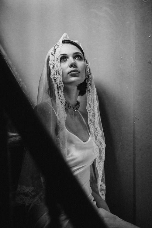 Veil by AM Faulkner // Necklace by Vicki Sarge // Slip dress by Katya Katya Shehurina