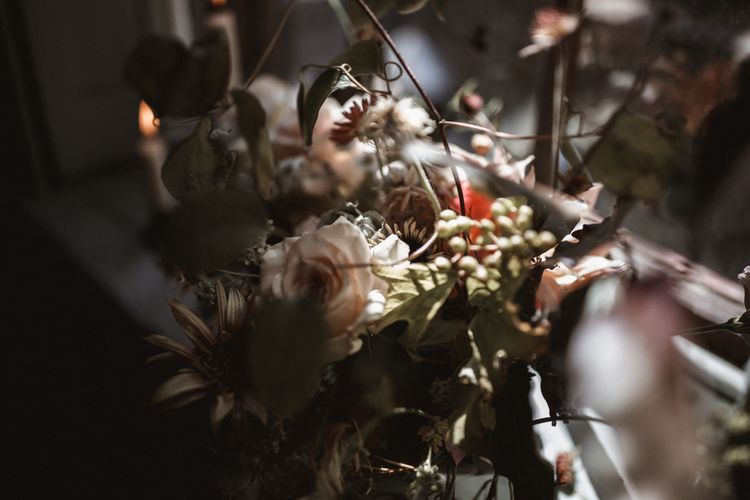 Frida Kim Flowers // Stylish Wedding Inspiration From Beatnik Bride Showcasing London's Finest Suppliers With Images From Benjamin Wheeler Photography