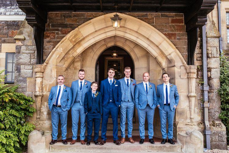 Groomsmen in Navy Blue Next Suits