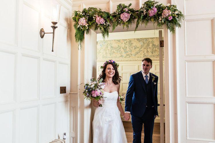 Bride & Groom Married with Floral Door way Decor