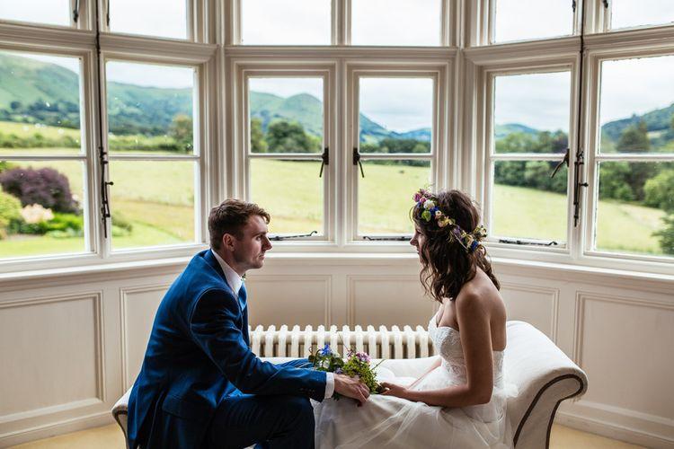 Bride & Groom Window Portrait