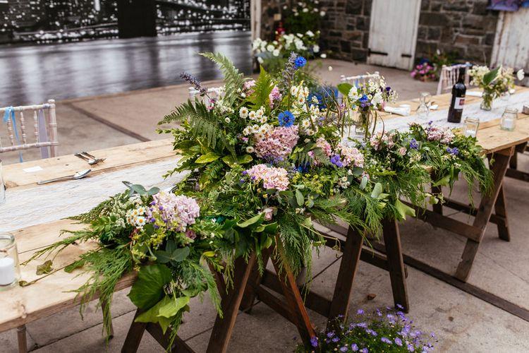 Wild Flower Top Table Floral Arrangement