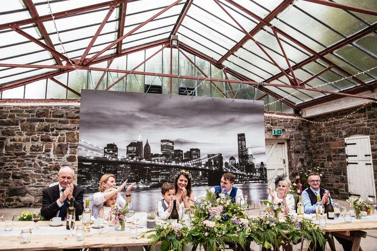 Top Table Wedding Reception