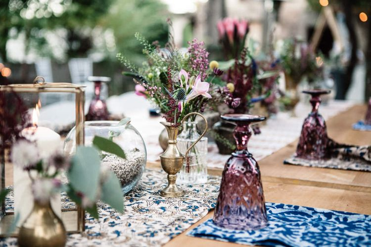 Eclectic Table Centrepieces