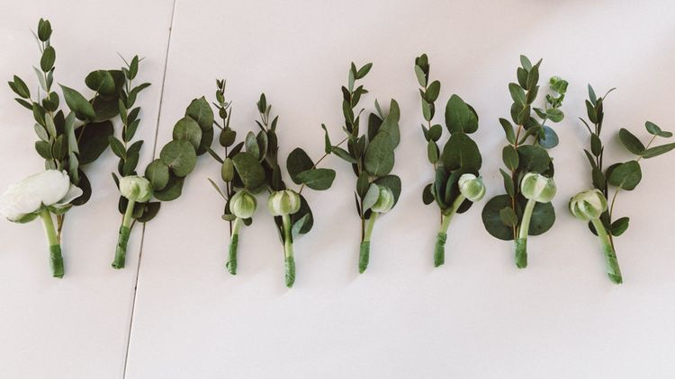 Greenery Buttonholes | The Harbour Church Portsmouth Wedding | Emily & Steve Photography