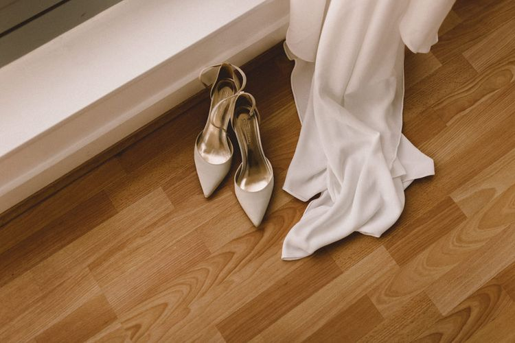 Bridal Shoes | Pronovias Gown | The Harbour Church Portsmouth Wedding | Emily & Steve Photography