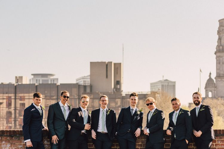 Groomsmen in Navy Suits | The Harbour Church Portsmouth Wedding | Emily & Steve Photography
