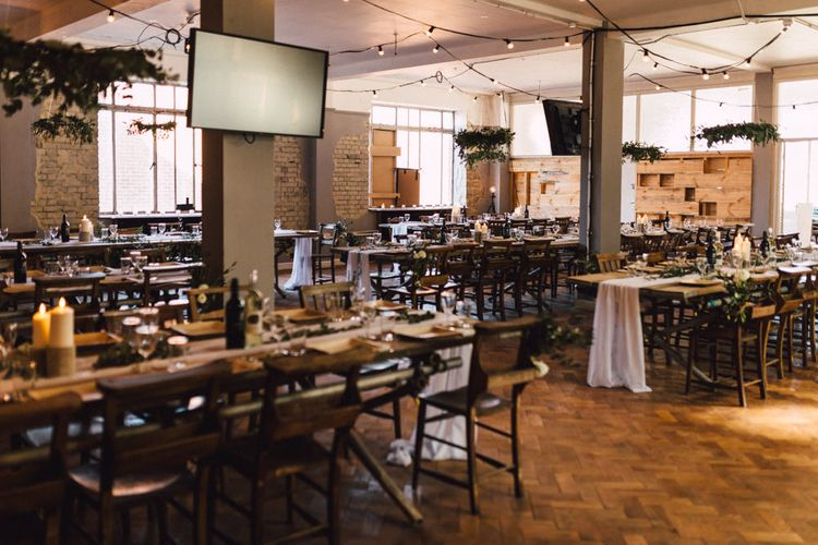Reception Decor | The Harbour Church Portsmouth Wedding | Emily & Steve Photography