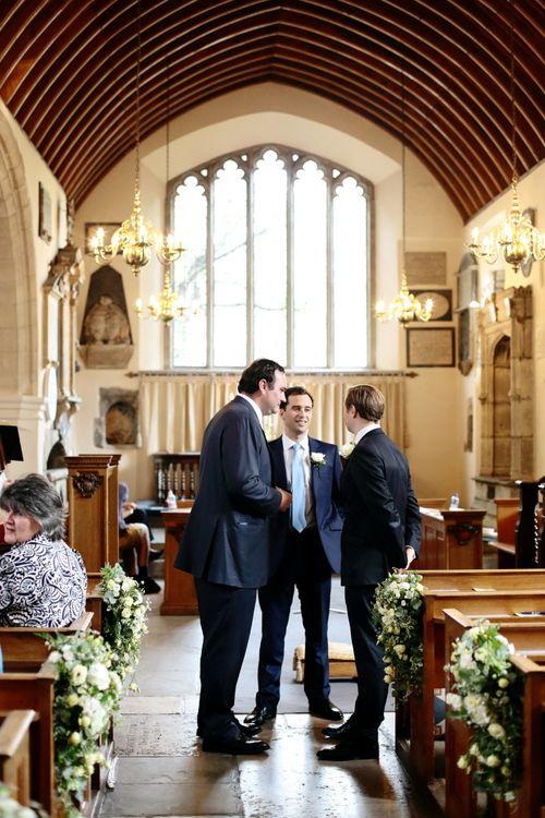 Groomsmen in Gieves and Hawkes Suit at the Altar | Dasha Caffrey Photography