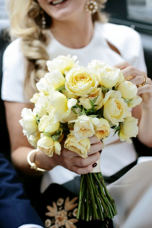 Pale Yellow Bridal Bouquet
