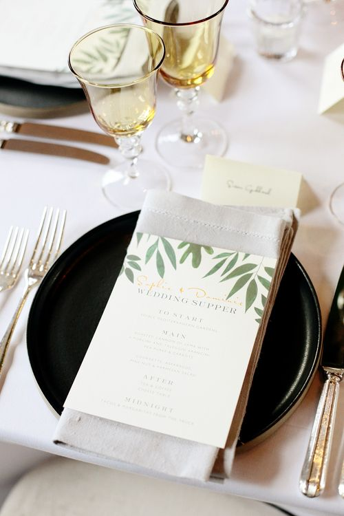 Greenery Papeir Wedding Stationery | Dasha Caffrey Photography