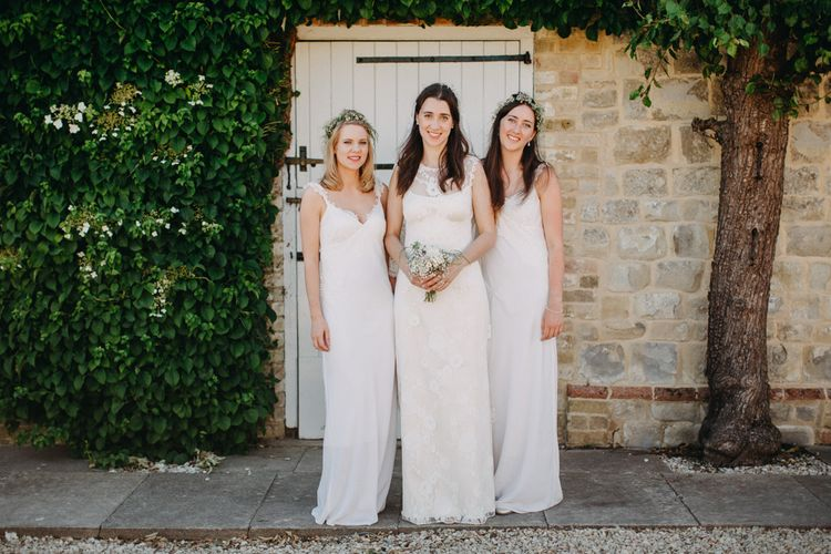 Bridal Party In White Dresses
