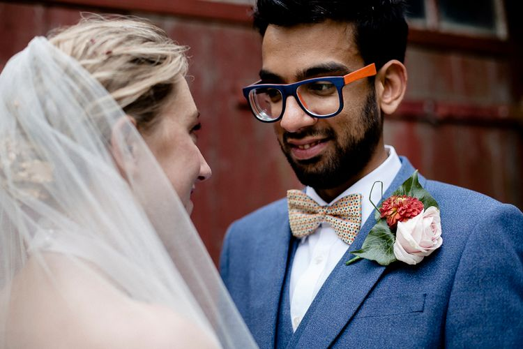 Bowtie With Polka Dots For Groom